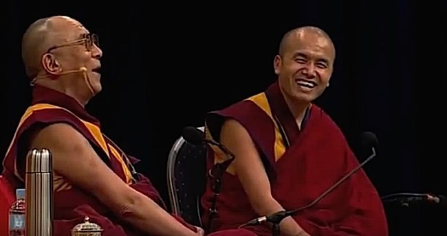 The Dalai Lama teaches by doing. Every teaching is liberally punctuated with the Dalai Lama's infectious, irresistible laughter.