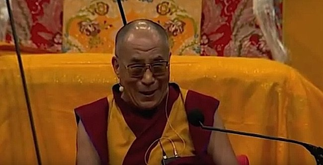 The Dalai Lama in Australia teaching by example. He laughs at every opportunity.