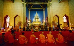 Monks in a temple