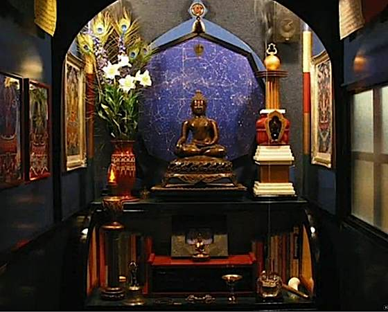 Buddha Weekly 0A home shrine can also be elaborate a lifes work in a dedicated room