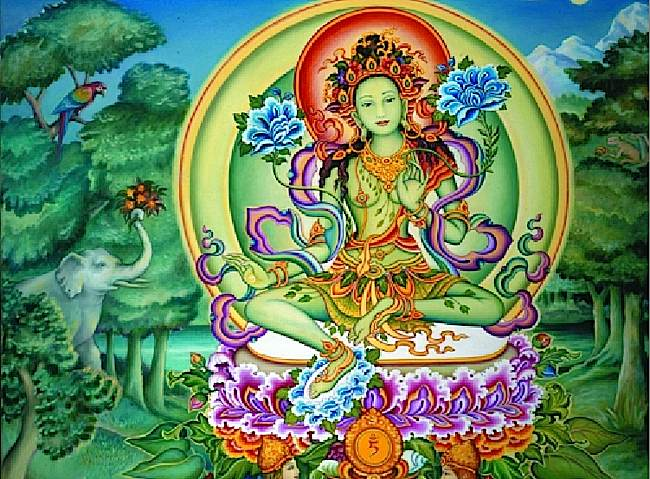 Buddha-Weekly-Green-Tara-and-Tam-Symbol-Buddhism