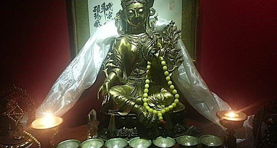 Water Bowl Offerings is a foundation basic practice in Vajrayana Buddhism that teaches us generosity, helping us overcome stinginess. Seven bowls are filled with water each morning, and offered to the Buddhas.