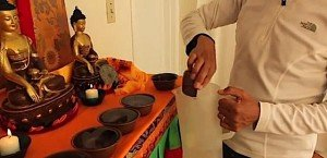 Buddha Weekly 3Tibetan water offering bowl empty right to left
