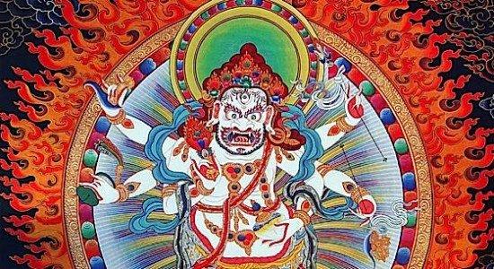 Buddha Weekly 0White Mahakala Buddhist Wealth Deity