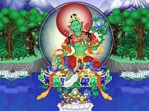 Green Tara meditation tankha