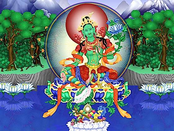 Green Tara meditation tankha