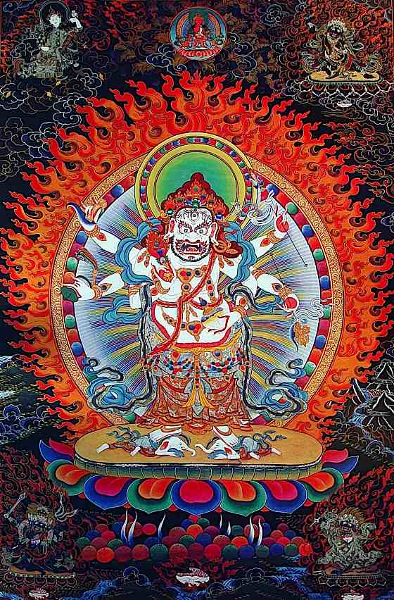 White Mahakala Buddha