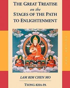 The Great Treatise On The Stages Of The Path To Enlightenment is an English translation, eagerly awaited by English-speaking devotees. The translation took years and was undertaken by the Lamrim Chenmo Translation Committee to their great merit.
