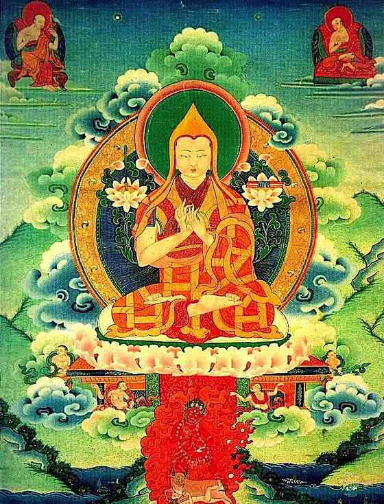 A wonderful master thanka depicting Lama Tsongkhapa