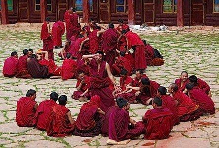 Buddha Weekly 0Monks Debate dreamstime s 27616888