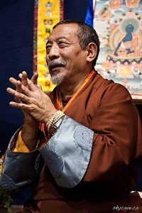 Venerable Zasep Tulku Rinpoche spiritual head of Gaden for the West and Gaden Choling Toronto.
