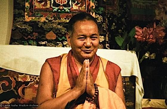 The much revered Guru Lama Yeshe.