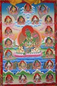 Buddha Weekly 21 Taras and Amitabha high resolution thangka Buddhism