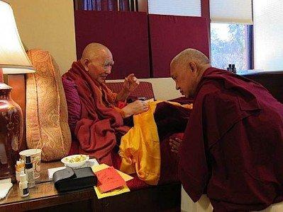 Buddha Weekly Geshe Lhundub with his student Lama Zopa Buddhism