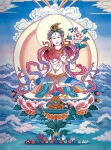 Buddha Weekly White tara in snowy mountains Buddhism