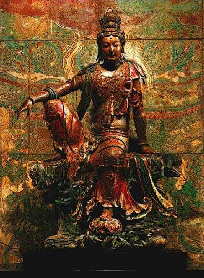 Guanyin, the Chinese female aspect of Avalokitesvara, Buddha of Compassion.