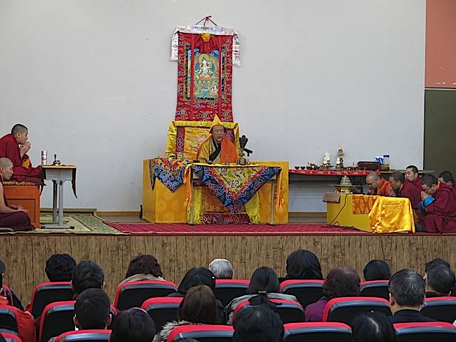 Zasep Tulku Rinpoche teaching.