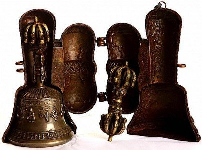 Buddha Weekly Nine Pronged Bell and Dorje with Case Buddhism