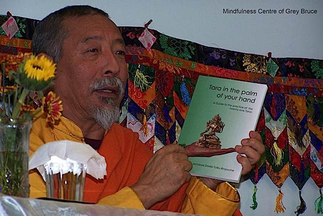 Zasep Tulku Rinpoche is the author of Tara in the Palm of Your Hand, a commentary and practice of the 21 Taras.