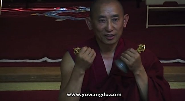 Venerable Thupten Donyo of the Gyuto Vajrayana Center of San Jose demonstrates how to use the Vajra and Bell with your offering mantras.