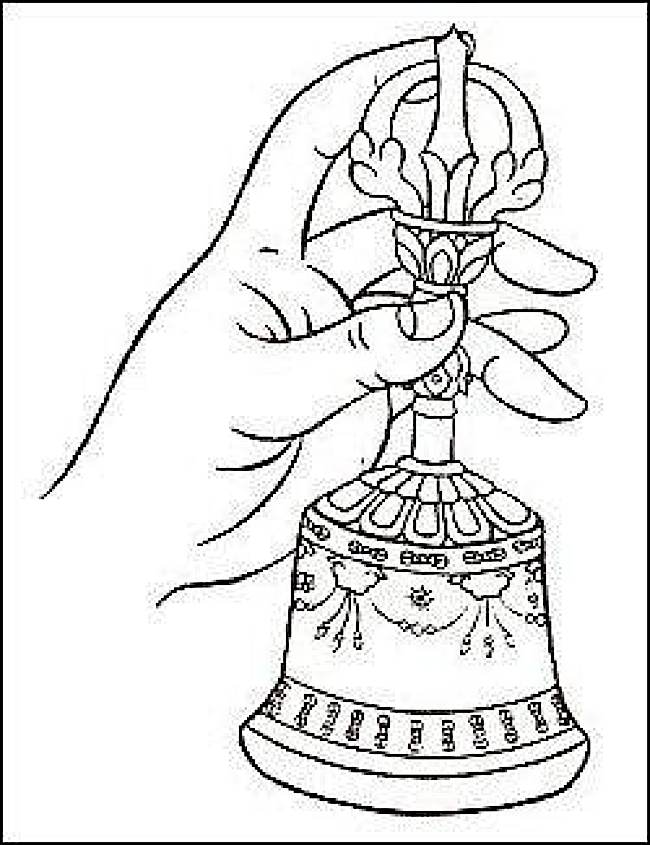 How to correctly hold the Bell or Ghanta.