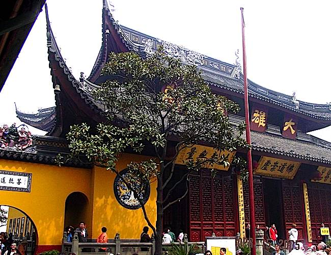 The Jade Buddha Temple in Shanghai.