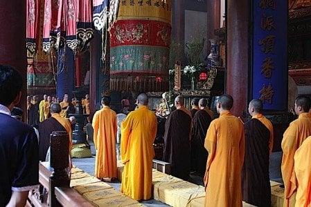 Buddha Weekly Chinese Buddhist Monks Ceremony Hangzhou Buddhism