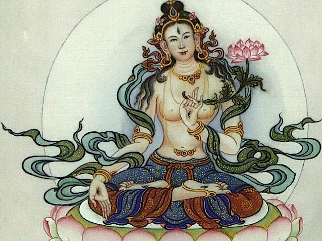 White Tara is particularly effective in Mahayana Buddhism for long life and healing practice.
