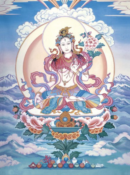 Healing practice with White Tara is enhanced when you visualize as many details of Tara's appearance as possible.