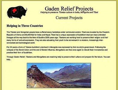 Buddha Weekly Gaden Relief website Buddhism