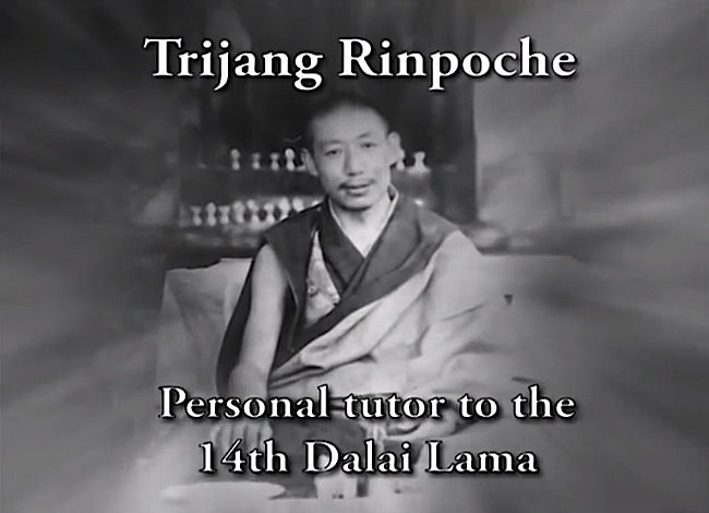 "One of Zasep Tulku's important teachers was the legendary Trijang Rinpoche, a tutor to the 14th Dalai Lama. Photo as a screen grab from ""Please Come Again"", a documentary on rebirth featuring Zasep Rinpoche."