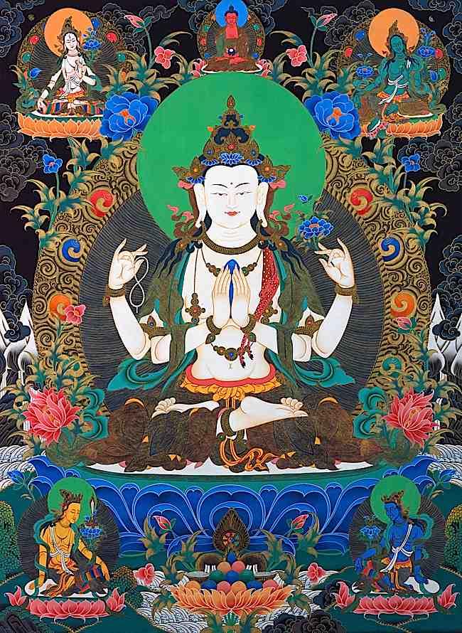Buddha Weekly chenrezig avalokitesvara with tara and amitabha Buddhism