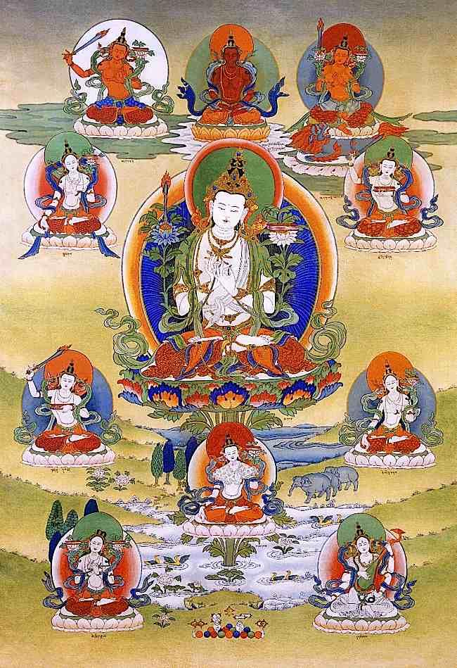 White Manjushri is the Buddha of Wisdom.