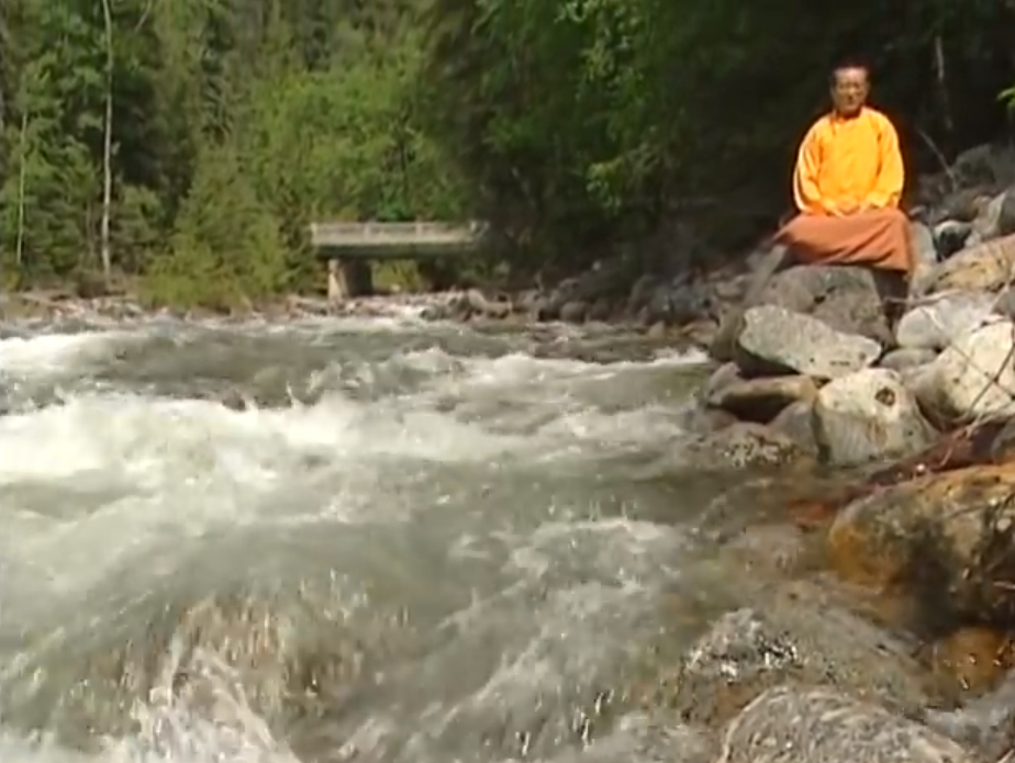 "Both mindfulness and visualization meditation can be done anywhere. In many Vajrayana meditation practices, special places such as fast rivers, high mountains, sacred spaces and cemeteries are desirable to enhance the experience. From the film ""Please Come Again: The Reincarnation of Zasep Tulku Rinpoche."""