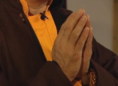 Zasep Tulku Rinpoche praying hands