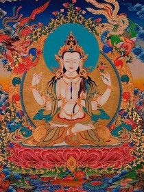 """Avalokitesvara compassion practices can """"enhance treatment of anxiety, depression, trauma"""" say some scientists and clinicians. For the rest of us, his compassion brings us closer to bliss and wisdom."""