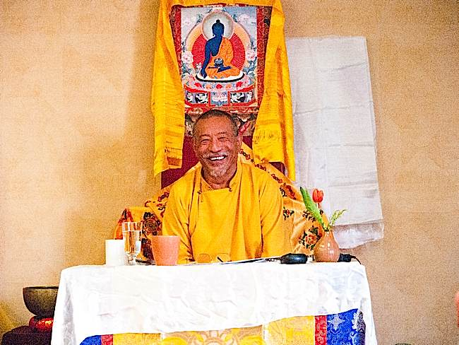 Zasep Tulku Rinpoche teaching Mindfulness of Feelings at Mahamudra mini-retreat.