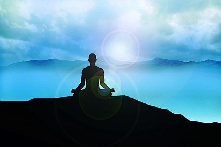 Buddha Weekly Lotus position meditation mountain top misty Buddhism