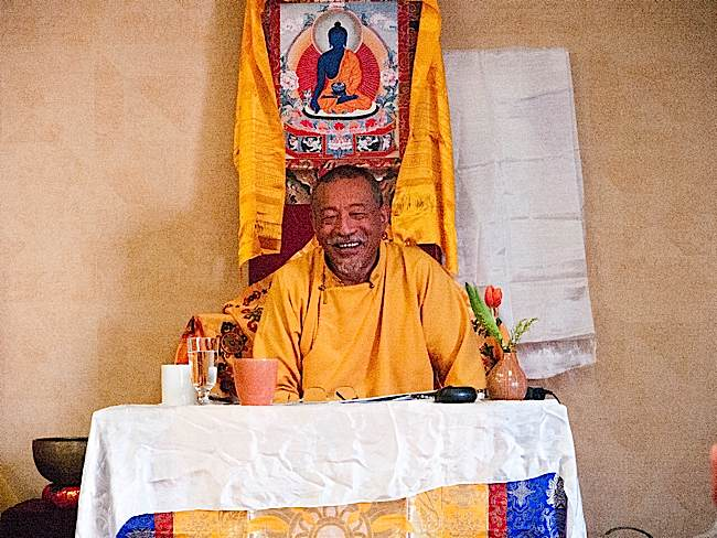 A full-capacity audience was captivated by a full day of Mahamudra teachings with Zasep Tulku Rinpoche in Owen Sound.