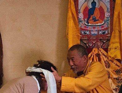 Buddha Weekly Zasep Tulku Rinpoche Blessing Student Buddhism