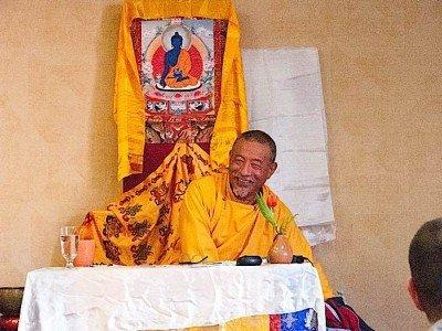 Buddha Weekly Zasep Tulku Rinpoche Smiling During Mahamudra Teaching Owen Sound Buddhism