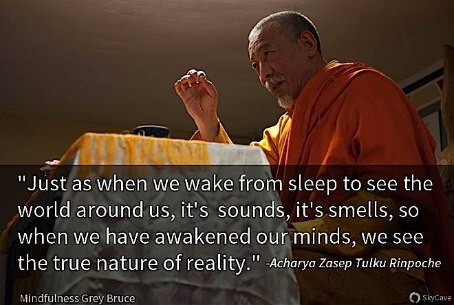 Zasep Tulku Rinpoche teaching at a previous retreat in Ontario.