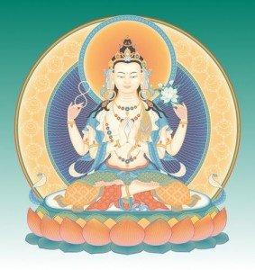 Beautiful Four Arm Avalokiteshvara