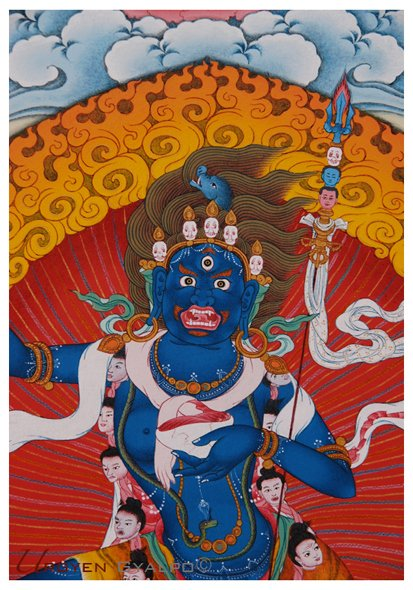 Black Troma Nagmo Lion Faced Dakini.