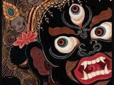 Buddha Weekly Black Mahakala head Buddhism