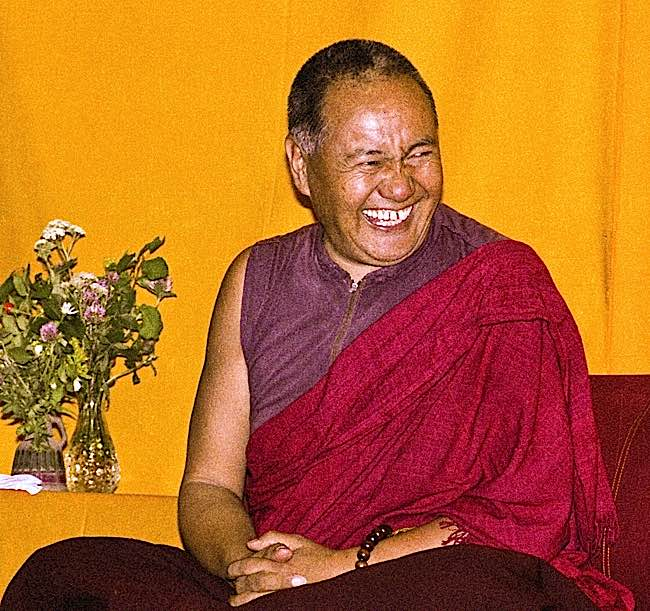Lama Yeshe was famously happy.