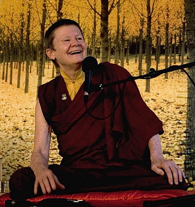 Well-known Buddhist teacher and meditator is often seen laughing.
