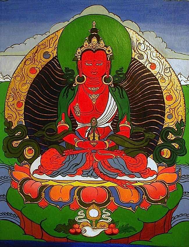 Amitayus, Buddha of Long Life.
