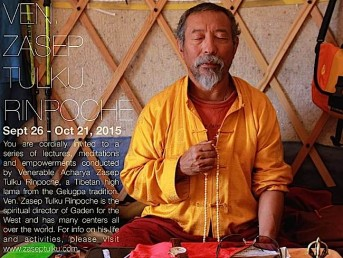 Venerable Zasep Tulku Rinpoche, Spiritual Director of Gaden for the West, Returns to Toronto for a Month of Precious Teachings in September and October