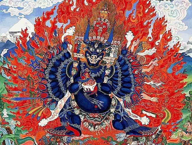 Angry Wisdom: Yamantaka, the Destroyer of Death; Vajrabhairava, the wrathful Dharamapala Heruka manifestation of Manjushri, the Buddha of Wisdom